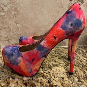 Floral Platform Pump, Steve Madden, Floral heel.
